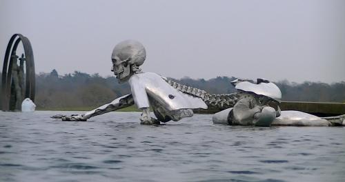 Sculpture from the 2013 Bilderberg Meeting in Watford, England.