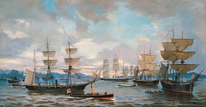 The Russian Navy patrols America's coastlines, 1863.