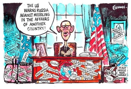 US Intervention Cartoon