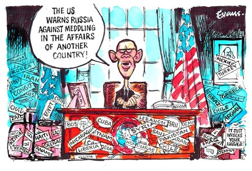 US Intervention Cartoon