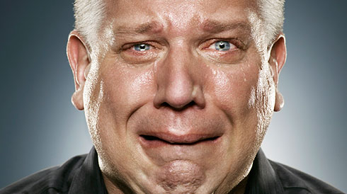 Clearly a serious man: Glenn Beck, American talk-media kingpin.