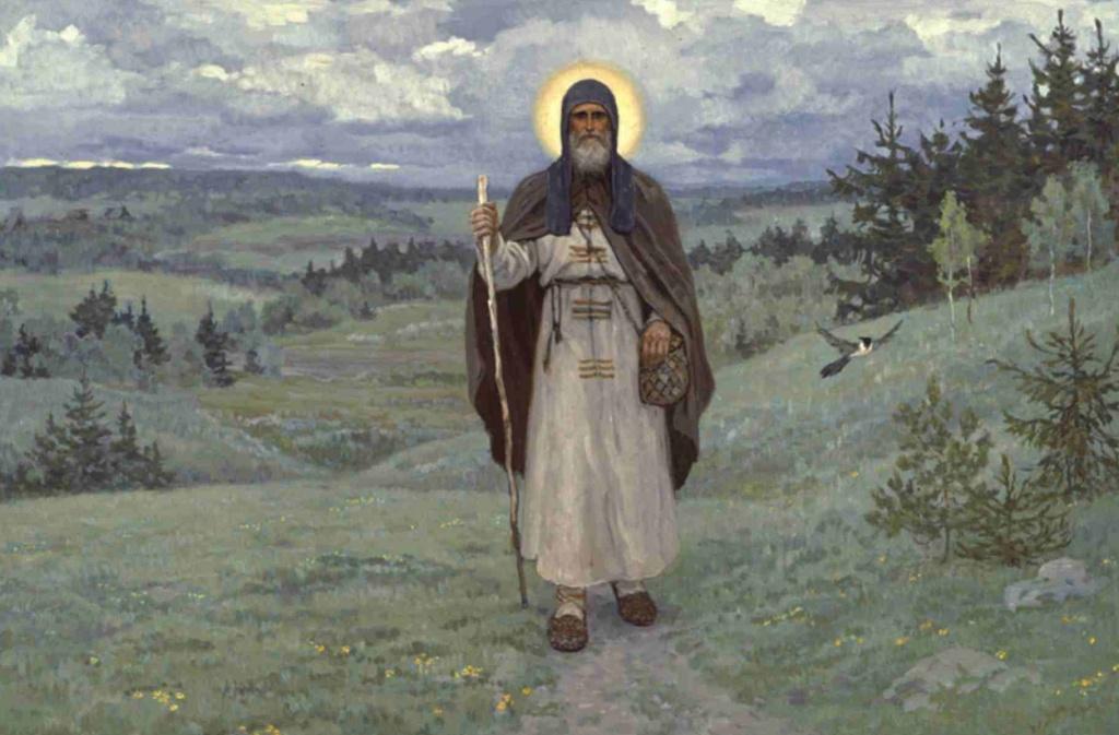 St. Sergius of Radonezh, by Sergei Efoshkin.