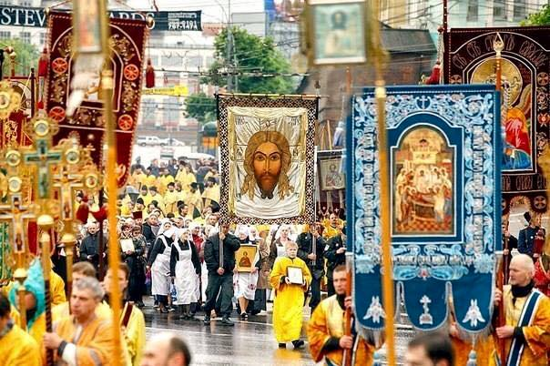 Cross Procession in St. Petersburg.