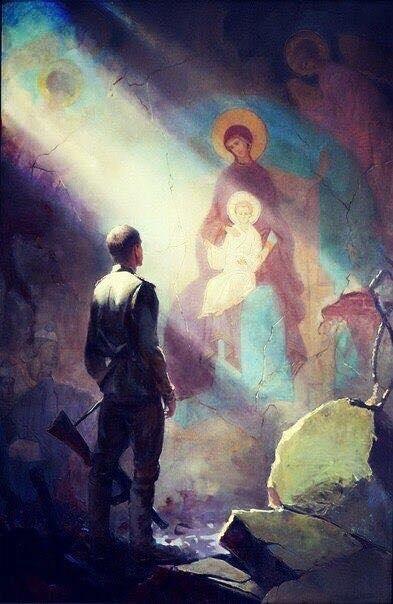 Theotokos and Christ, Yuri Andreev