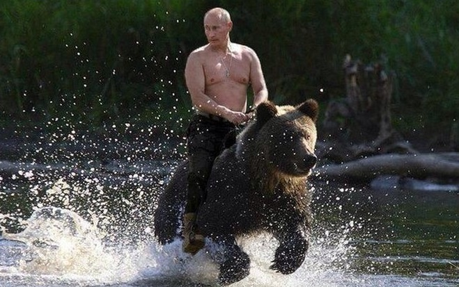 The morning commute to the Kremlin!