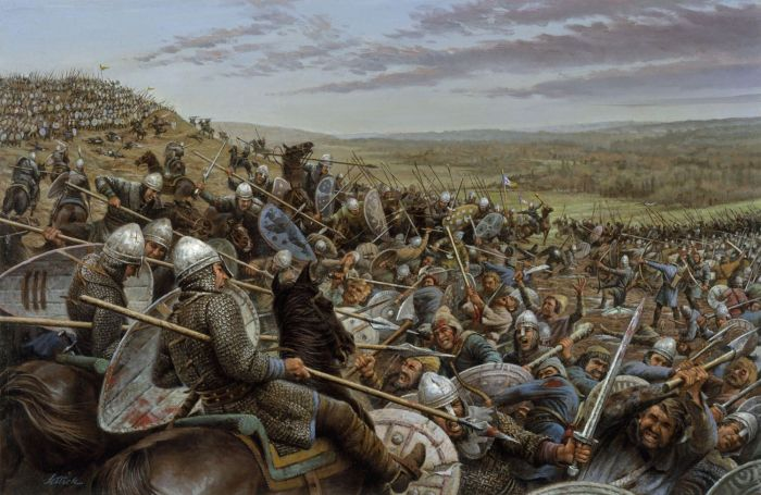 The Saxons' valiant last stand: Hastings, 1066.