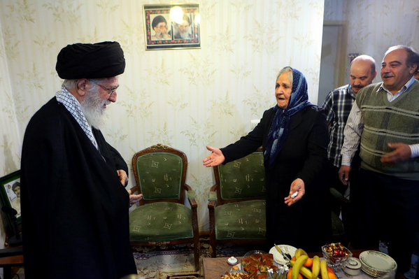 Khameini Visits Christian Mother