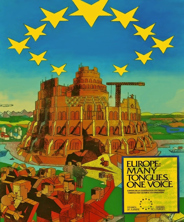 EU Tower of Babel Poster